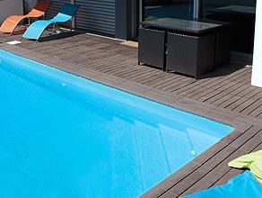 bordaduras para piscinas Teca Sol