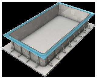Modelos de piscinas OVERFLOW - Fundo Plano