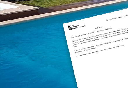 Certificados de Piscinas - Finanças