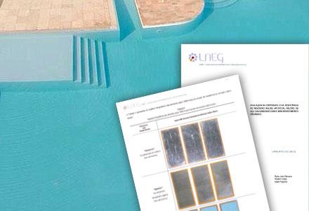 Certificados de piscinas - Testes